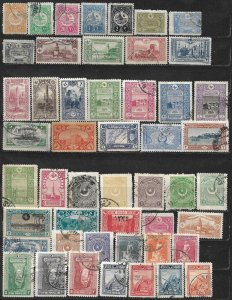 COLLECTION LOT OF 49 TURKEY 1909+ STAMPS