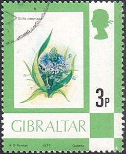 Gibraltar # 344 used ~ 3p Flowers - Giant Squill