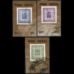 NEPAL 1981 - Scott# 392-4 Stamp Cent. Set of 3 Used