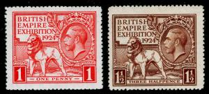 SG430-431, 1924 PAIR, VLH MINT. Cat £25.