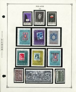 Poland All Mint NH 1960 to 1964 Rare Stamp Collection