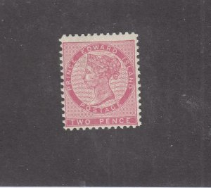 PRINCE EDWARD ISLAND # 5  F-VF-MLH  2d QUEEN VICTORIA /ROSE CAT VALUE $10