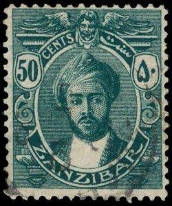 Zanzibar Scott 168 Variety Gibbons 288y Used Stamp