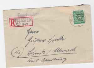 Germany Soviet Zone 1949 Rauenstein to Binde  stamps cover  R20735