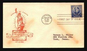 US SC# 872 FDC / ROSS Liberty Cachet - L3364