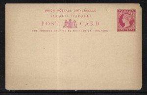 Tobago Postal Stationery Postcard H&G 6 Unused