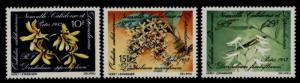 New Caledonia 482a-c MNH Flowers, Orchids