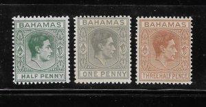 Bahamas 1938-46 KG Sc 100-102 MNH A1701