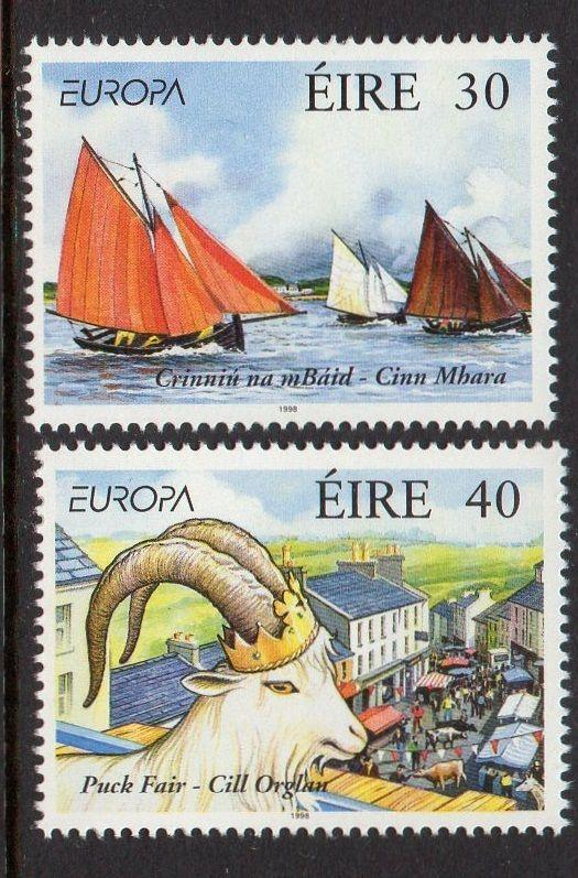 Ireland 1998 Europa Ship Goat VF MNH (1124-5)