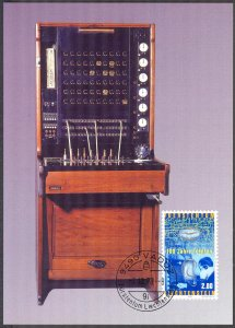 Liechtenstein 1998 100 Years of Telephone Maxi Card FDC