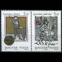 HUNGARY 1990 - Scott# 3238a Hungarian Kings Set of 2 NH