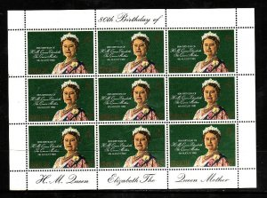 Gibraltar-Sc#393-unused NH sheet-Queen Mother-80th Birthday-1980-