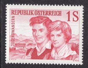 Austria  #652   1960 MNH  youth hostel movement