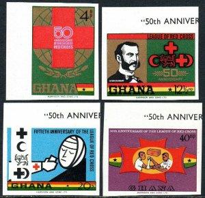 Ghana 378-381 imp., MNH. League of Red Cross Societies, 50th anniv. 1969