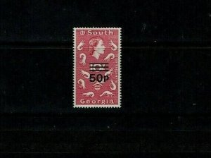 South Georgia: 1971, Decimal Surcharge definitive, 50c upright wmk, MNH set