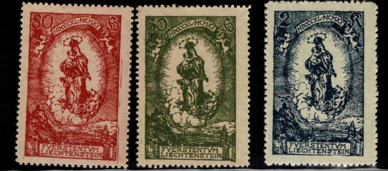 LIECHTENSTEIN Scott 47-49 MH* stamp set Madonna and child