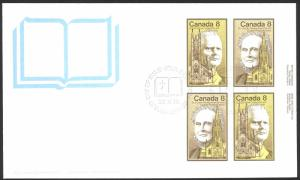 Canada Sc# 662-663 FDC inscription block 1975 05.30 Canadian Personalities