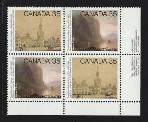 Canada Plate block mnh  Unitrade #  852a