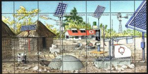Namibia. 2001. 1041-50. Hospital, solar panels. MNH.