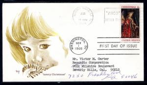 US 1363 Christmas Angel Marg Typed FDC