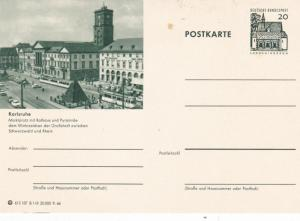 West Germany 20pfg Lorsch/Karlsruhe Prepaid Postcard Unused VGC