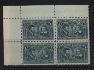 Canada #97i XF Mint Hairlines Corner Block