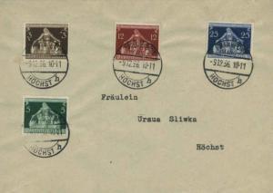 Germany 3pf, 5pf, 12pf and 25pf International Congress of Municipalities 1936...