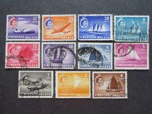 Singapore #28-38 Used - (1C9) WDWPhilatelic