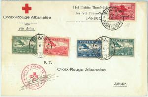 67675 - ROMANIA  - Postal History -  FLIGHT COVER  Muller # 5 - RED CROSS  1925