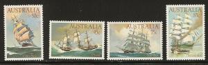 Australia ship set  MNH  894 - 897