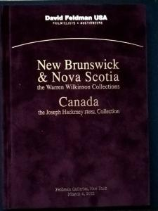 Auction catalogue NEW BRUNSWICK & NOVA SCOTIA Warren Wilkinson CANADA Hackmey