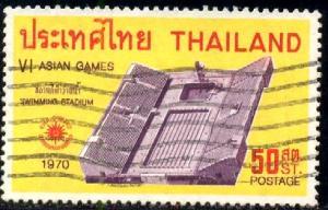 6th Asian Games, Bangkok, 1970, Thailand stamp SC#553 used
