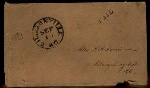 CSA Gillisonville SC South Carolina Civil War Confederate Stampless Paid C 92871
