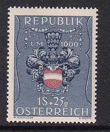 Austria   #B266    MH    1949  Arms of Austria  1s