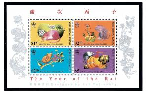 Hong Kong 734-37 MNH 1996 Year of the Rat S/S
