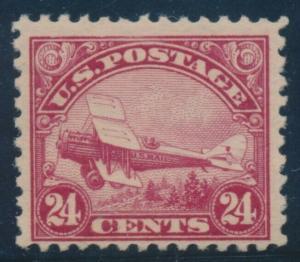 #C6 24c 1923 BIPLANE F-VF OG NH CV $130 AU760