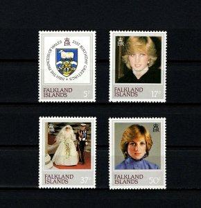 FALKLAND IS - 1982 - PRINCESS DIANA - 21st BIRTHDAY - PORTRAITS - MINT MNH SET!