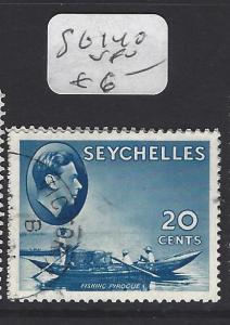 SEYCHELLES  (P1410B)  KGVI  20C  BOAT  SG 140   VFU