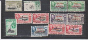 FALKLAND ISLANDS 12 STAMPS MNH AND MH  LOT#232