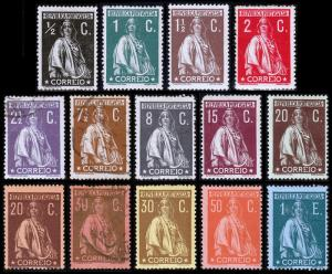 Portugal Scott 208-212, 214-215, 217-223(1912-20) Mint/Used H F-VF, CV $457.75 B