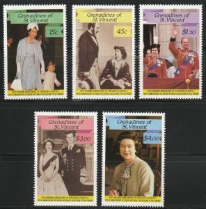 Grenadines St. Vincent MNH 568-72 Queen Elizabeth 1987