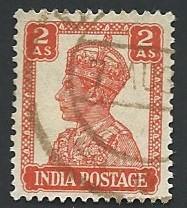India Scott #173 2a King George VI used (1941)