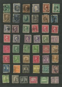 STAMP STATION PERTH USA Early Selection of 48 Stamps Unchecked Used-Lot 3