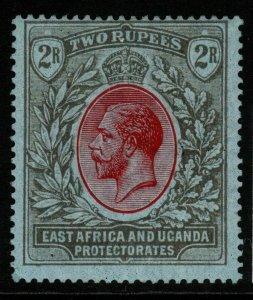 KENYA, UGANDA & TANGANYIKA SG72 1922 2r RED & BLACK/BLUE MTD MINT