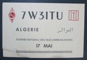 6000 Amateur Radio QSL Card Algeria