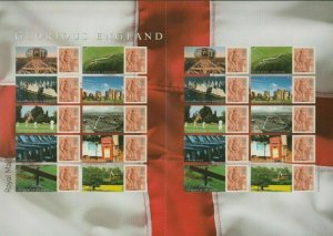 LS38 GB 2007 Glorious England Smiler sheet UNMOUNTED MINT/MNH
