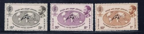 Ethiopia 383-85 NH 1961 Anti-Malaria set