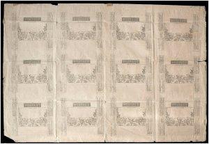 1d QV Mulready Lettersheet uncut sheet of 12 Forme 3 UNUSED