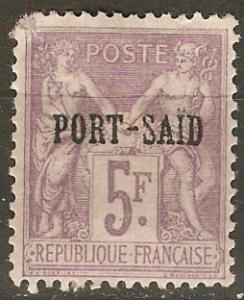 France Off Egypt Pt. Said 13 Mi 15 MH 1899 SCV $120.00