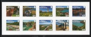 Guernsey Sc 1267 2014 Views stamp  booklet pane mint NH